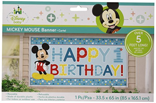 Mickey Mouse 1st Birthday Fba Bb120247 Banner Perfect Creeper For You Little Boy On And Around His Great Gift Plastic