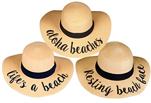 908d31ed62eb8 Beach Saying Trio – H-2017-3-AB.LAB.RBF Sun Hat Bundle – ShelfShelf
